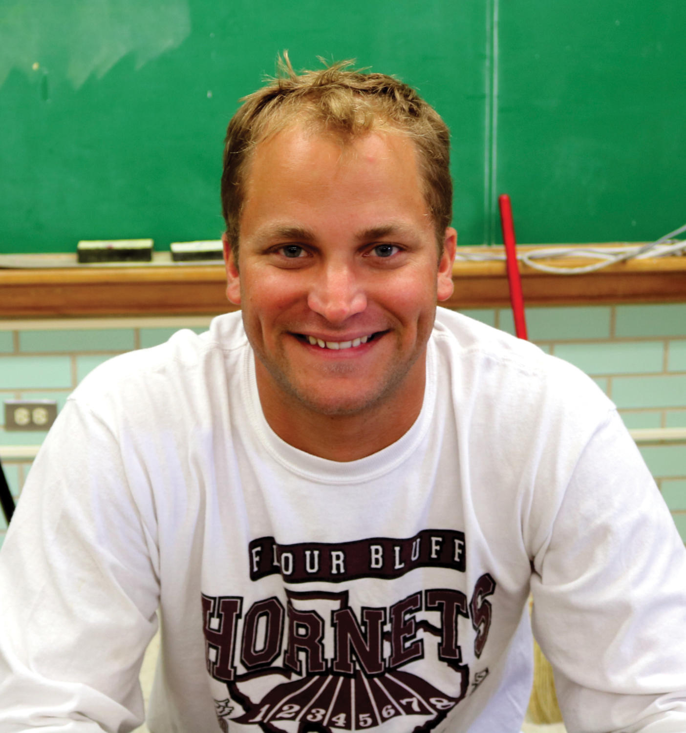 Graf is teaching world history and world geography, as well as coaching football and girls soccer.